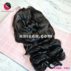 Wavy hairstyle 4x4 lace closure wigs 10 inches 180% Density