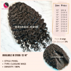 Natural curly 4x4 lace closure wigs 8 inches 180% Density