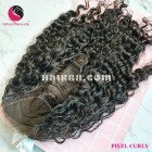 Kinky curly 4x4 lace closure wigs 18 inches 180% Density