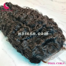 Curly 4x4 lace closure wigs 26 inches 180% Density