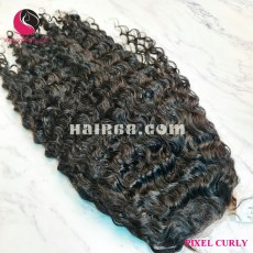 Vietnamese curly 4x4 lace closure wigs 28 inches 180% Density
