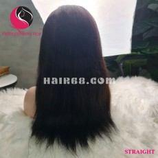 Straight 13X4 lace frontal wigs 12 inches 180% Density