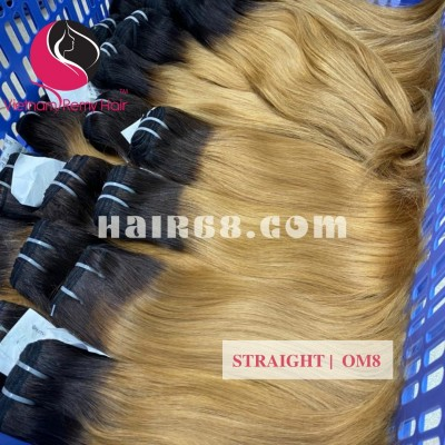 18 inch - Weave Ombre Hair Extensions - Straight Double Drawn Hair - Vietnam Hair