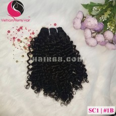 8 inch Remy Curly Weave Human Hair– Single Drawn