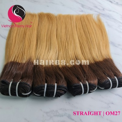 10 inch - Weave Ombre Remy Hair Extensions - Straight Single