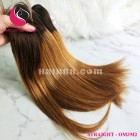 14 inch - Weave Black Ombre Hair Extensions - Straight Single