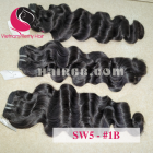 18 inch Weave Remy Hair Extensions - Steam Wavy