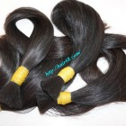 18 inch Human Hair Extensions Cheap - Thick Straight Single