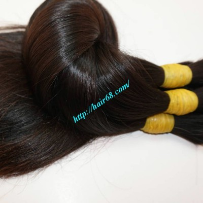 8 inch Thick Human Hair Extensions - Straight Single