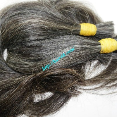 26 inch Gray Straight Hair Extensions - Straight Double
