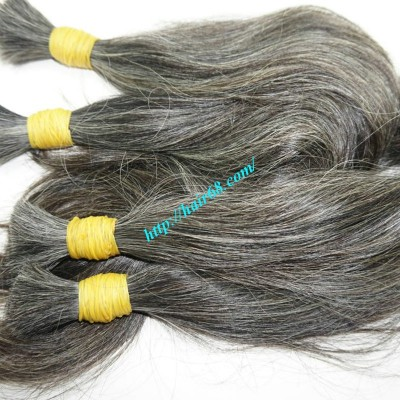 12 inch Hair Extensions For Grey Hair - Straight Single