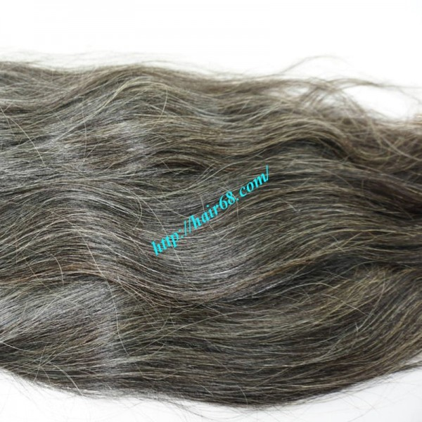 16 Inch Grey Hair Piece Ponytail Best Hair Extensions