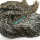20 inch Best Grey Hair Extensions - Straight Single