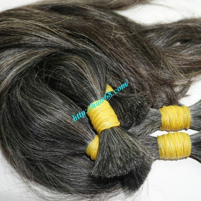 26 inch Grey Hair Extensions Online - Straight Single