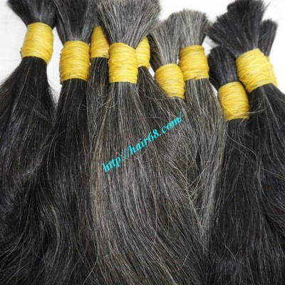 18 inch Grey Hair Color - Wavy Double