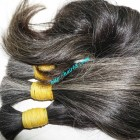24 inch Gray Hair Extensions - Wavy Double