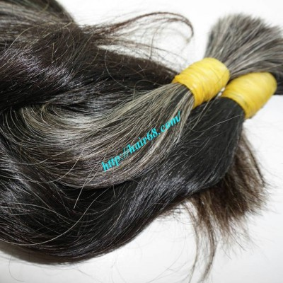 12 inch Natural Grey Hair Extensions - Wavy Double