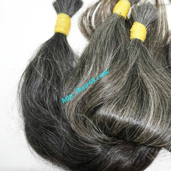 20 Inch Grey Hair Extensions Style Wavy Is High Quality