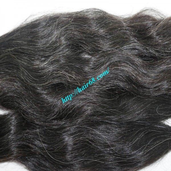 Wholesale Natural Grey Human Hair Extensions High Quality