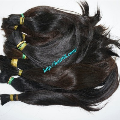 8 inch Cheap Human Hair Extensions Straight Double Drawn