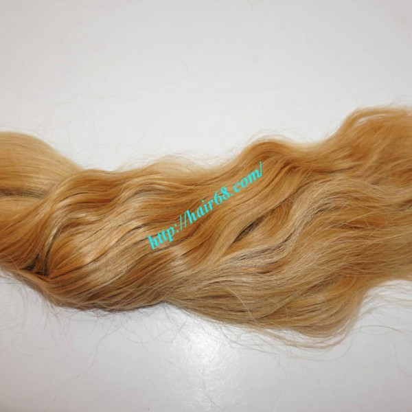 30 Inch Blonde Hair Extensions Natural Wavy