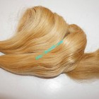 16 inch Cheap Blonde Human Hair Weave - Natural Wavy