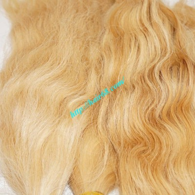18 inch Cheap Blonde Human Hair Weave - Natural Wavy