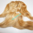 12 inch Blonde Wavy Remy Hair Extensions