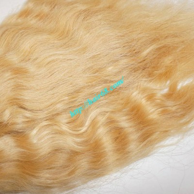 26 inch Blonde Wavy Remy Hair Extensions