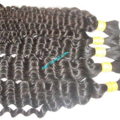 14 inch Curly Black Hair Extensions - Double