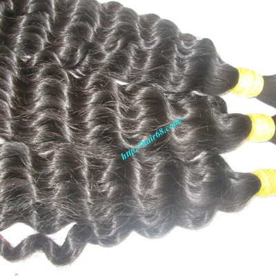 24 inch Remy Curly Hair Extensions - Double