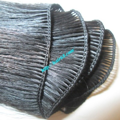 8 inch Hand Tied Weft Hair Extensions Straight Single