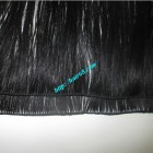 10 inch Hand Tied Human Hair Wefts Straight Double