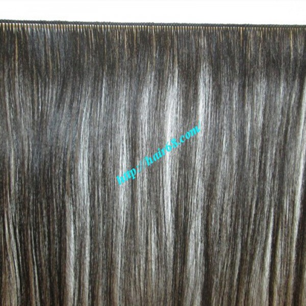 Hand Tied Weft Hair Extensions 30 Inch Natural Color