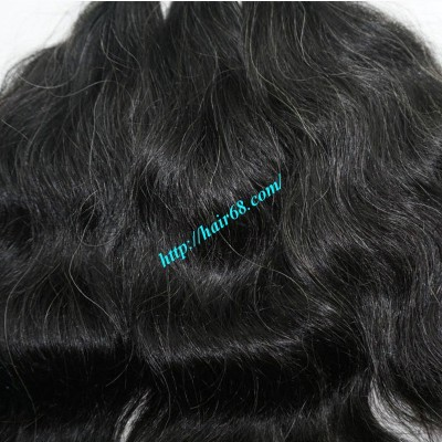 16 inch Hand Tied Remy Hair Weft – Wavy Single
