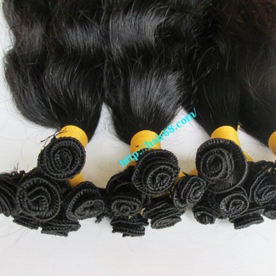 20 inch Hand Tied Wefted Hair Extensions – Wavy Double