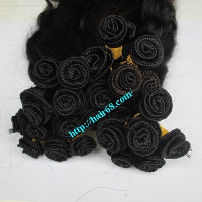 26 inch Hand Tied Weft Human Hair Extensions – Wavy Double