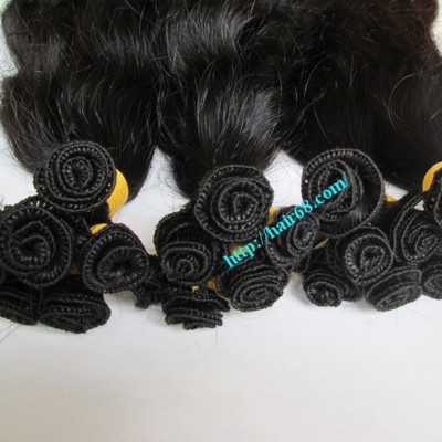 28 inch Hand Tied Human Hair Weft – Wavy Double