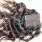 12 inches Middle Part Wavy Lace Closure 4x4
