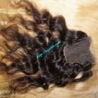 16 inches Middle Part Wavy Lace Closure 4x4