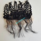 14 inches Vietnamese hair wavy free part lace frontal