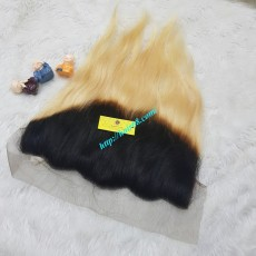 14 inches Free Part Lace Frontal  Vietnamese Straight Hair